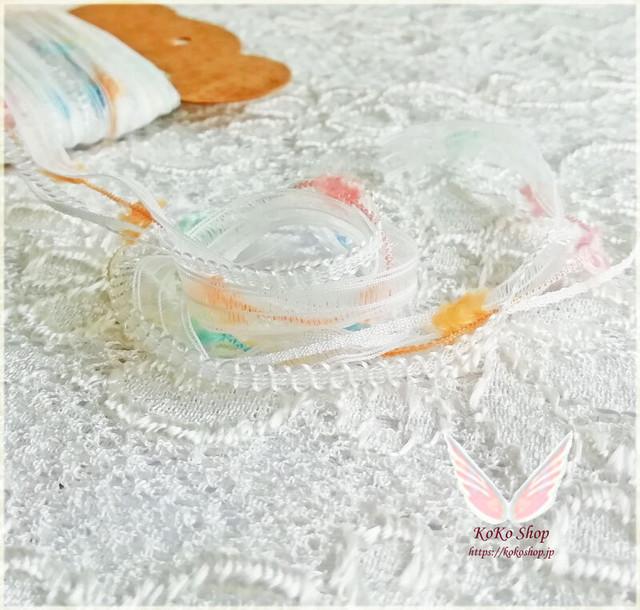 引き揃え糸カード  ~ メルヘン ~  オリジナル糸 ファンシー ラッピング レース タッセル