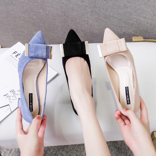 【shoes】配色合わせやすい美脚滑り止めパンプス 23036907