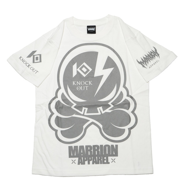 KNOCKOUT×MARRIONAPPAREL OCTOPUS SKULL T-shirts (White×Gray)