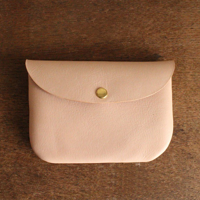 ■【 牛革のcoin purse pocket 】【S】natural