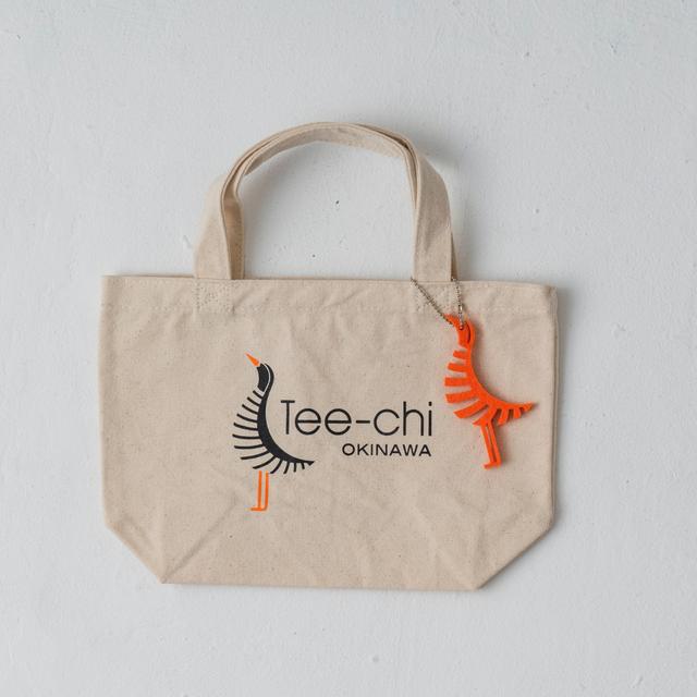 Tee-chi トートバッグ・Sサイズ<Tee-chiくんプリント><NATURAL>