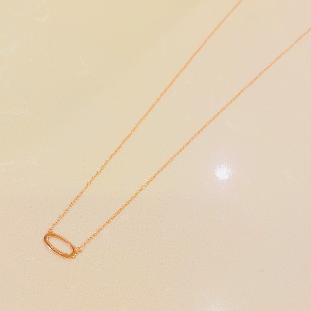 Angel's Ring Necklace -PinkGold-