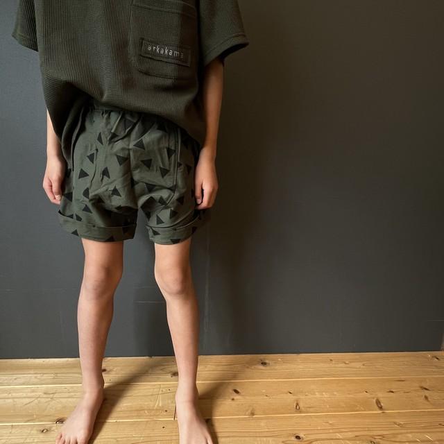 arkakama POLY Sarouel Shorts(▲Triangle) M/L AKL00021-w ※一枚までメール便可