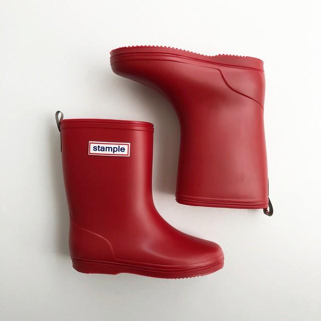 再入荷 ☆ stample Rain Boots  (MADE IN JAPAN) レッド 16~19cm #75005 #65