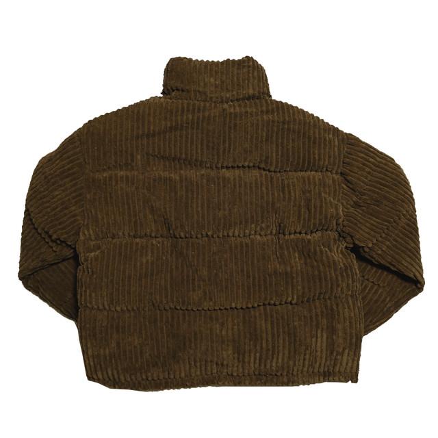 【Cat & Parfum】Corduroy Short Down Jacket