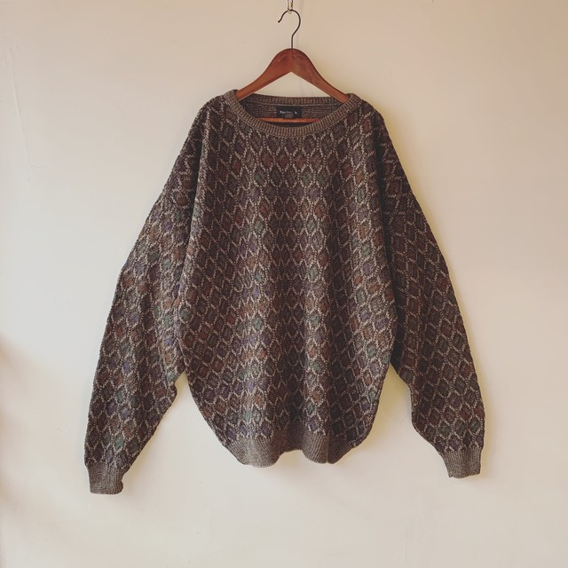 vintage oversized design knit sweater