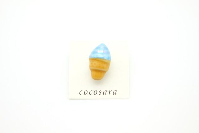 有田焼ブローチ ソフトクリーム