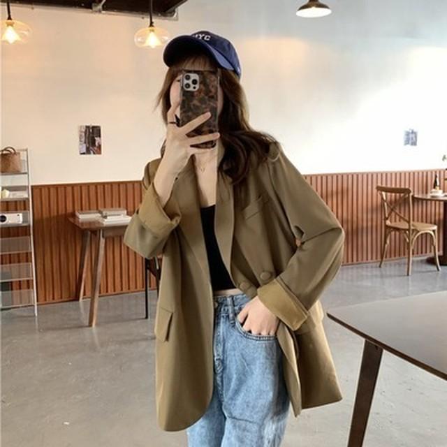 スーツ風ジャケット(コーヒー色)