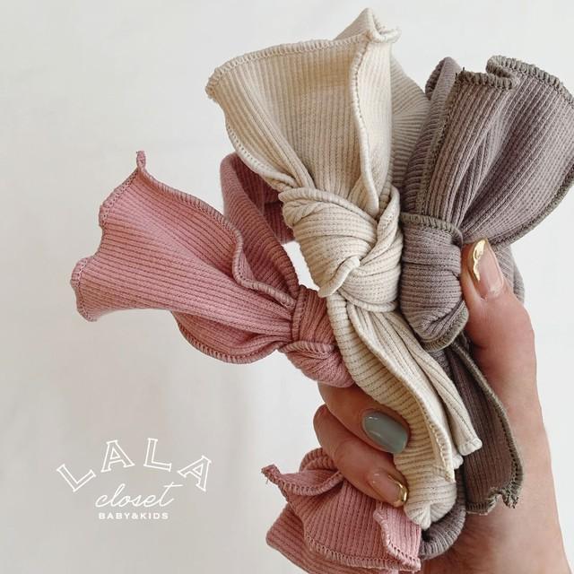 (即納) rib ribbon hair turban (ターバン/アイボリーorベージュ)  BBTEGX90802810_107