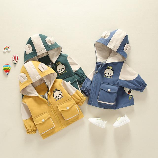 【トップス】韓国可愛い配色カートゥーンファッションチェック柄コットン子供服男の子女の子ジャケット25880703