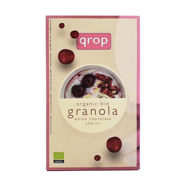 オーガニックシリアル qrop グラノラ(ホワイトチョコレート&チェリー) 400g