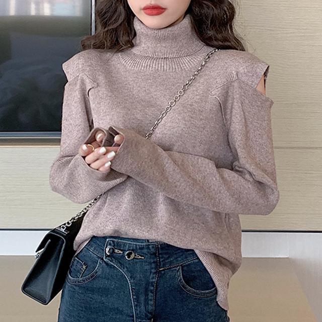 【tops】おしゃれ度アップベアトップファッション感満々セーター