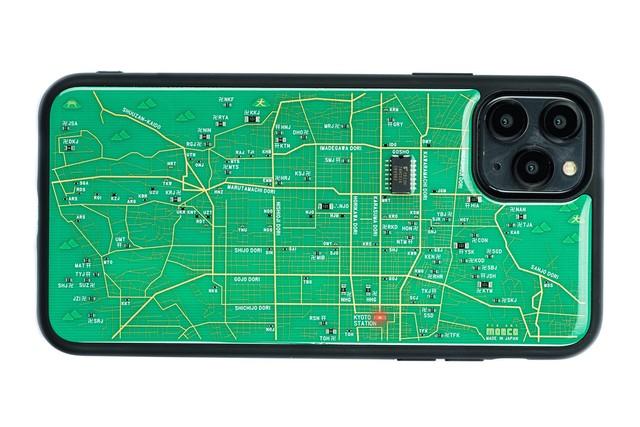 FLASH 京都回路地図 iPhone 12 Pro Max ケース 緑【東京回路線図A5クリアファイルをプレゼント】