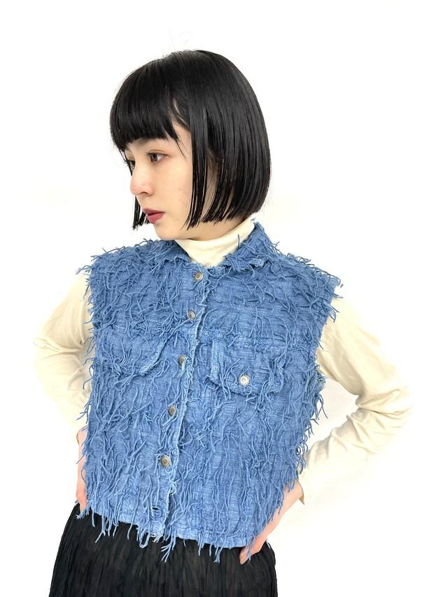 vintage short vest / 3SSTP04-18