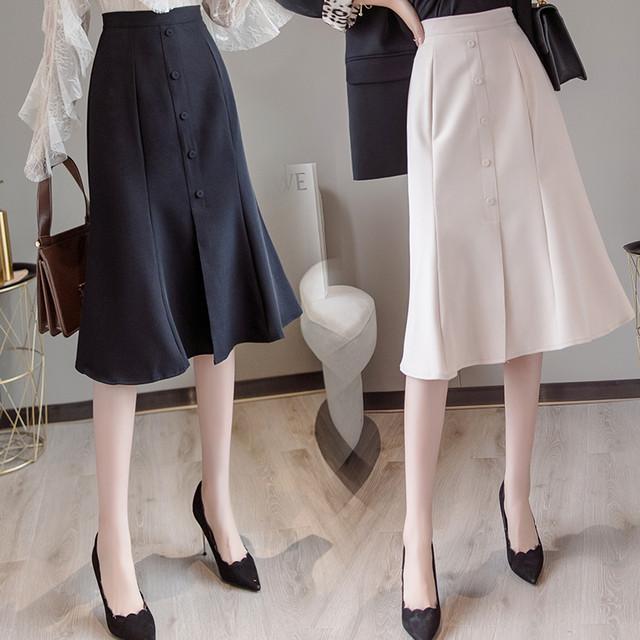 3色 feminine マーメイドスカート c2936}