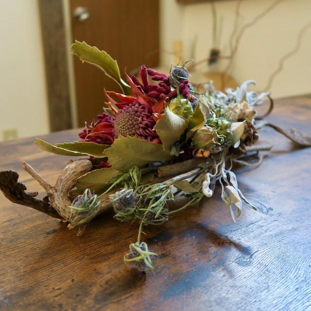 花と木片 <Native Flower Arrangement>