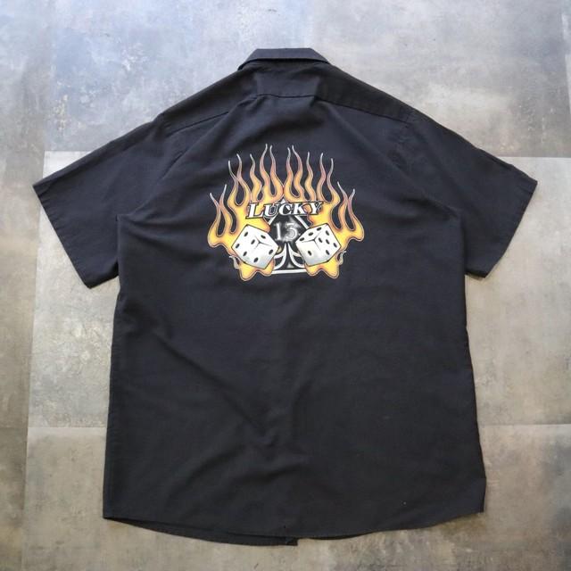 Black back design shirt