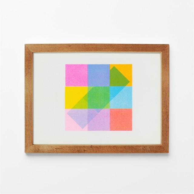 cyan, yellow, pink/ ISHIBIKI Public/ 石引パブリック「リソアートプリント」シリーズ