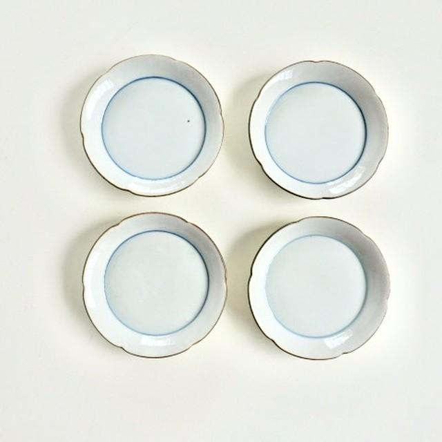 九谷の白 小皿 花小皿 (08)