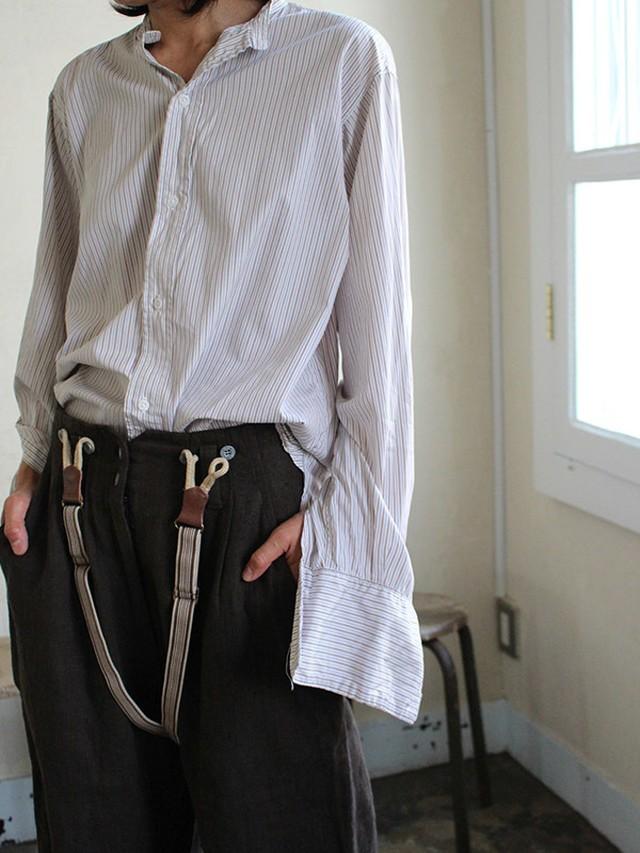 20s stripe cotton shirt