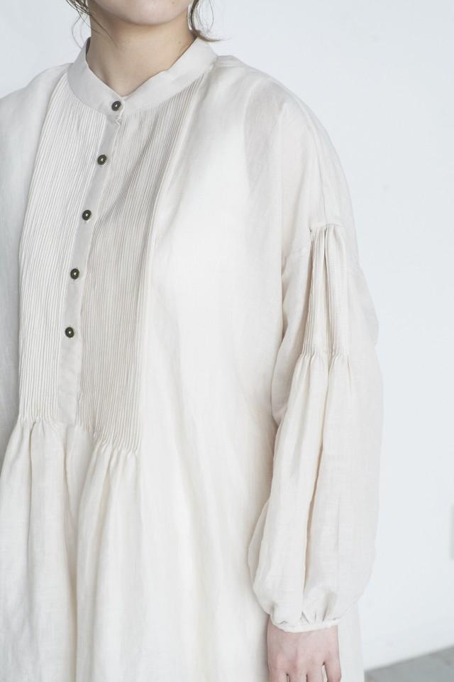 BUNON Embroidery Pintuck Dress