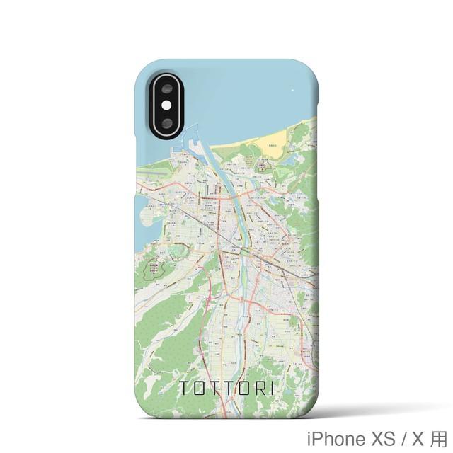 【鳥取】地図柄iPhoneケース(バックカバータイプ・ナチュラル)