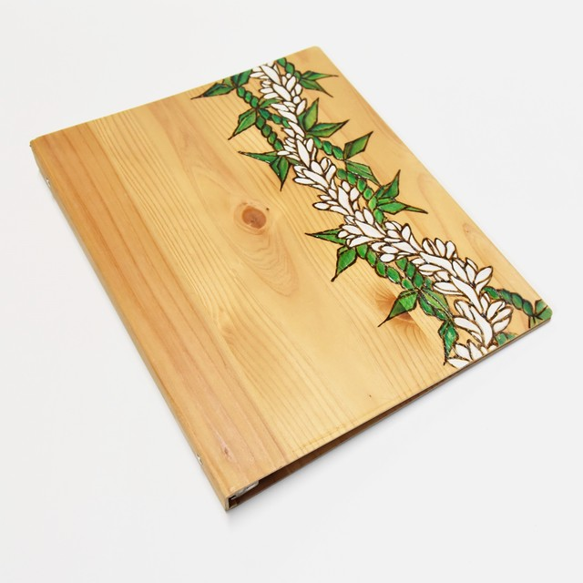 Wood File A4 【White Ginger&Maile Lei 】