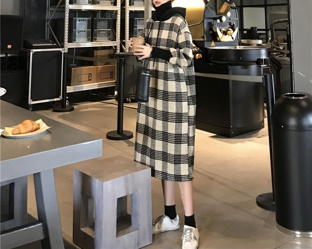 マルチボーダーワンピース ワンピース ロングワンピース 韓国ファッション