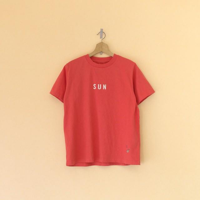 快晴堂 カイセイドウ 海上がりUNI Tシャツ SUN・レッド