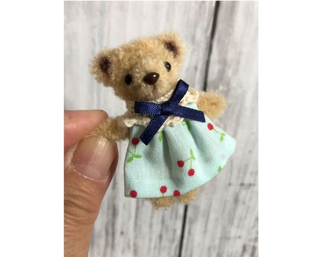dollnodollお人形のためのテディベア【ピーチちびくま】