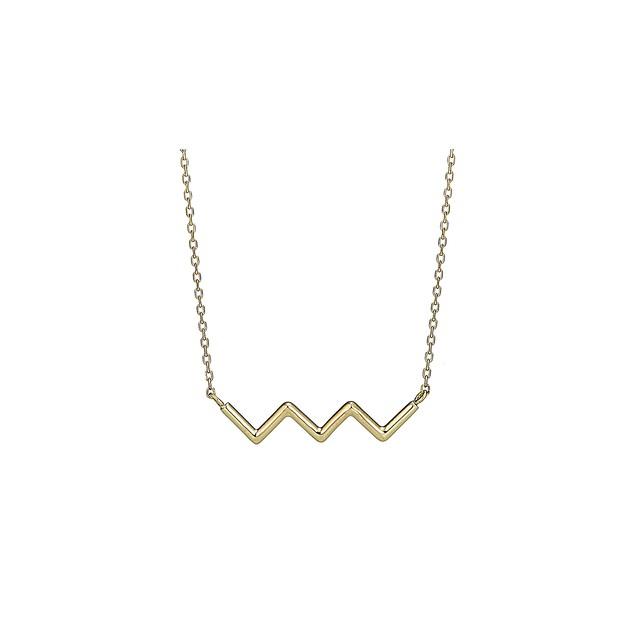 K18 Zig-Zag Necklace