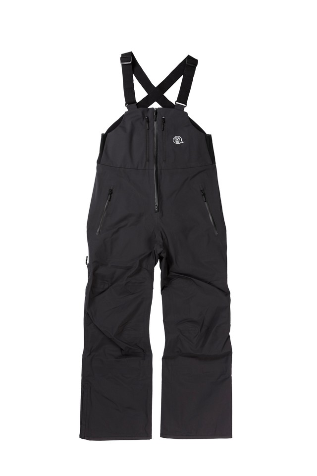 <予約商品>2021unfudge snow wear // PEEP BIB PANTS // BLACK