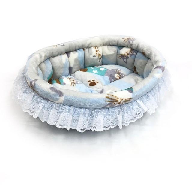 ふーじこちゃんママ手作り ぽんぽんベッド(サテンシャンパン)Mサイズ(CBPC01-0196M)