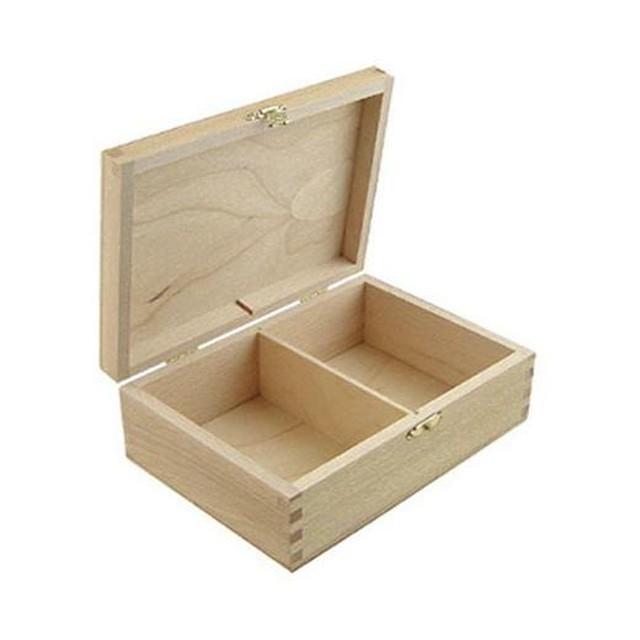 送料無料【PAPERLETTER】無塗装の木製カードボックス 17×12×6cm カード入れ カードケース デコパージュ用