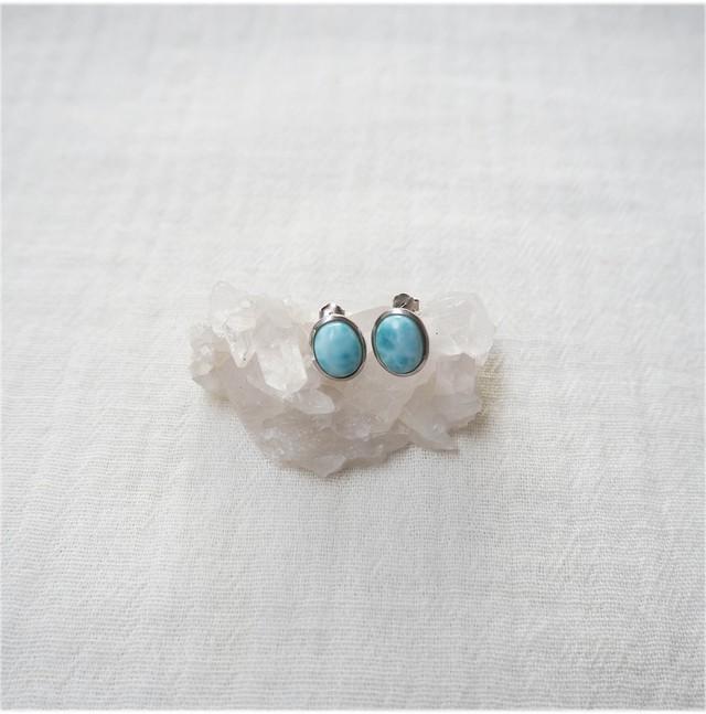 Larimar Pierced Earring《18388266》