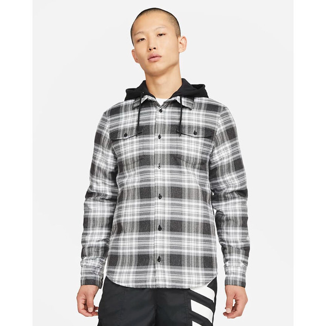 NIKE SB FLANNEL SKATE SHIRT BLACK