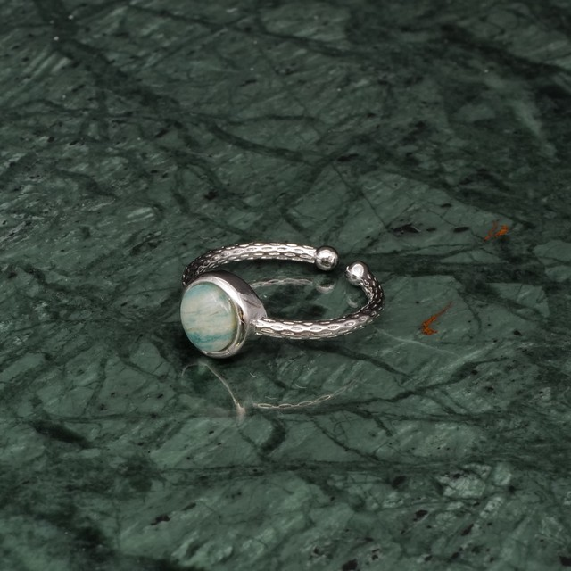 SINGLE MINI STONE RING SILVER 011
