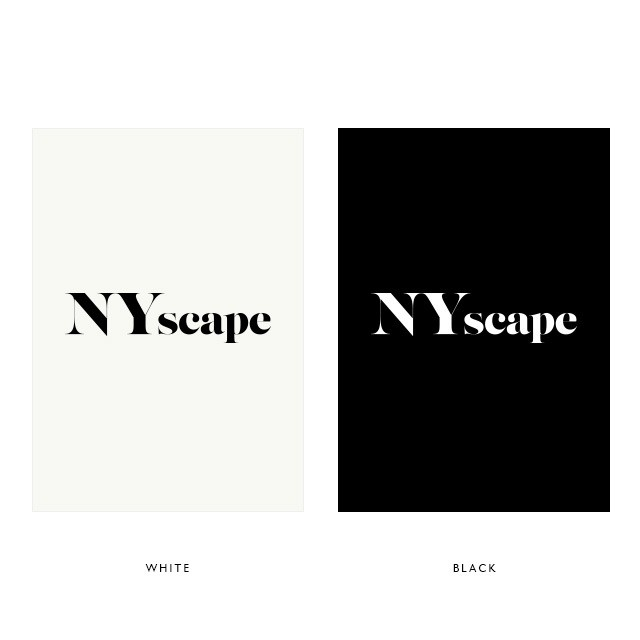 NYscape ロゴ ポスターA4