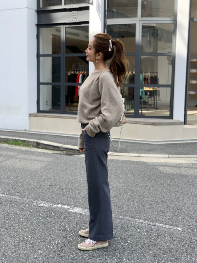 【50%OFF SALE】wide straight pants / gray  (即納)