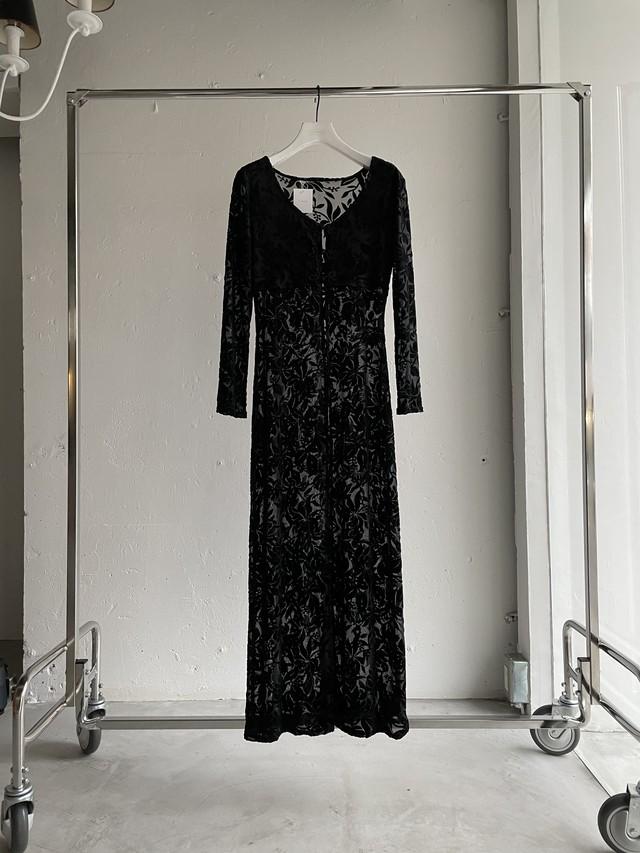 vintage sheer gown