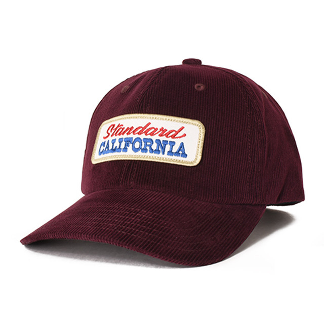 STANDARD CALIFORNIA #SD Logo Patch Corduroy Cap Burgundy