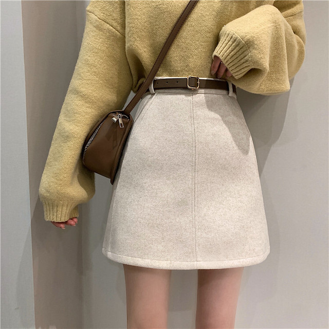 【送料無料】モテ服♪Aラインスカート♡ボトム ハイウエスト シンプル 着まわし デート 女子会
