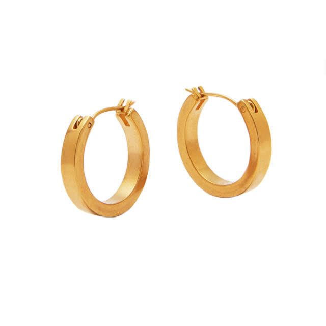 matte gold hoop pierce -S