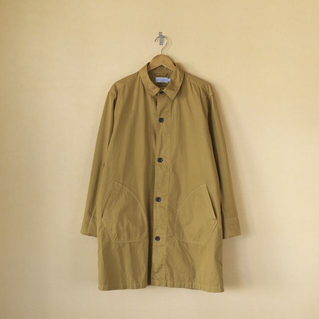 Manual Alphabet マニュアルアルファベット gaberdine overdyed shirt coat 製品染め高密度バーバーリーシャツコート・ジンジャー