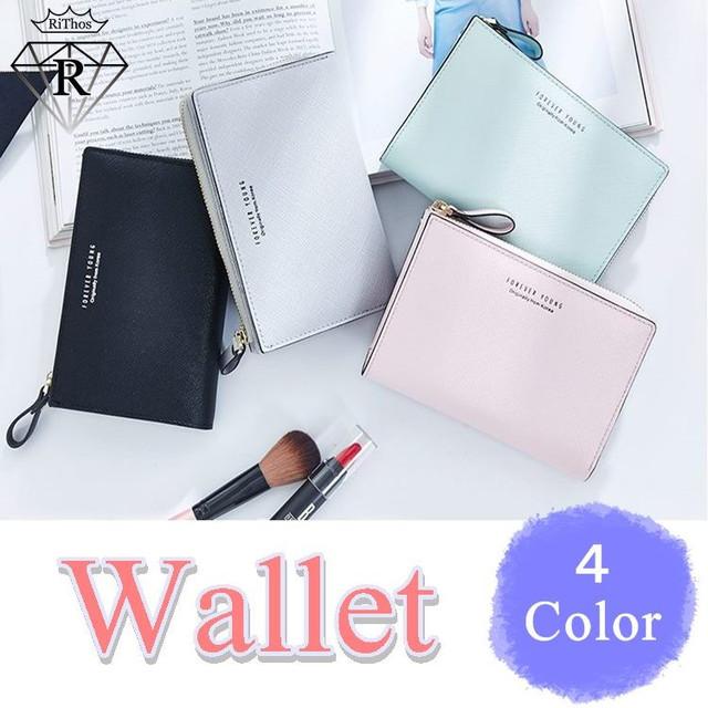 シンプルパステルカラー ミニコンパクトウォレット財布