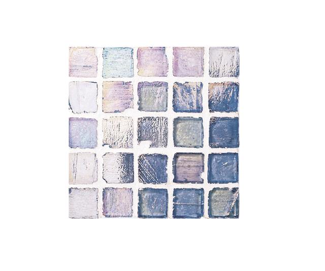 Staind Grass Mosaic【Aqua Blue/Pearl】ステンドグラスモザイク【アクアブル-/パ-ル】