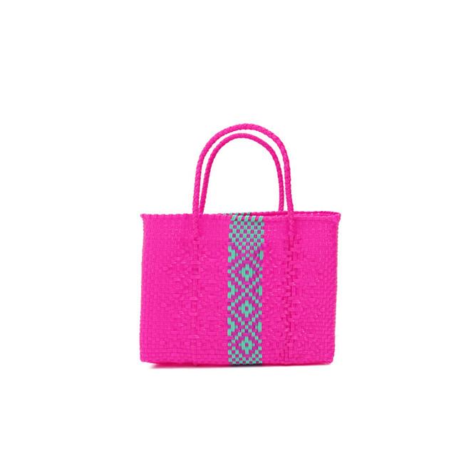 MERCADO BAG ROMBO  - Pink × Mint(XXS)