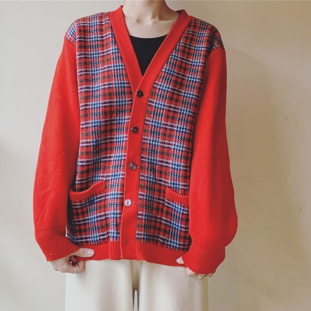 vintage scotland knit cardigan