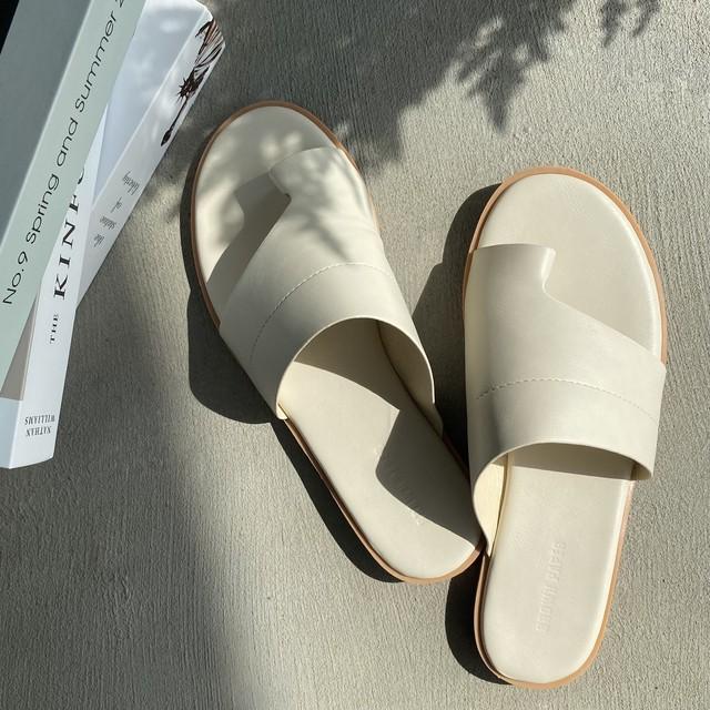 flat thong sandal【white】