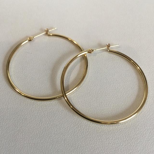 K18 1.5x35mm hoop pierce / K181.5x35mm フープピアス